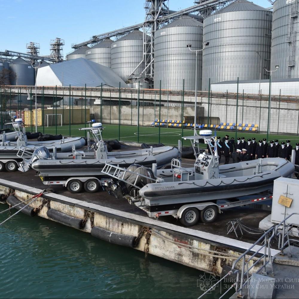 Катера и лодки // Украинские военные получили помощь от США