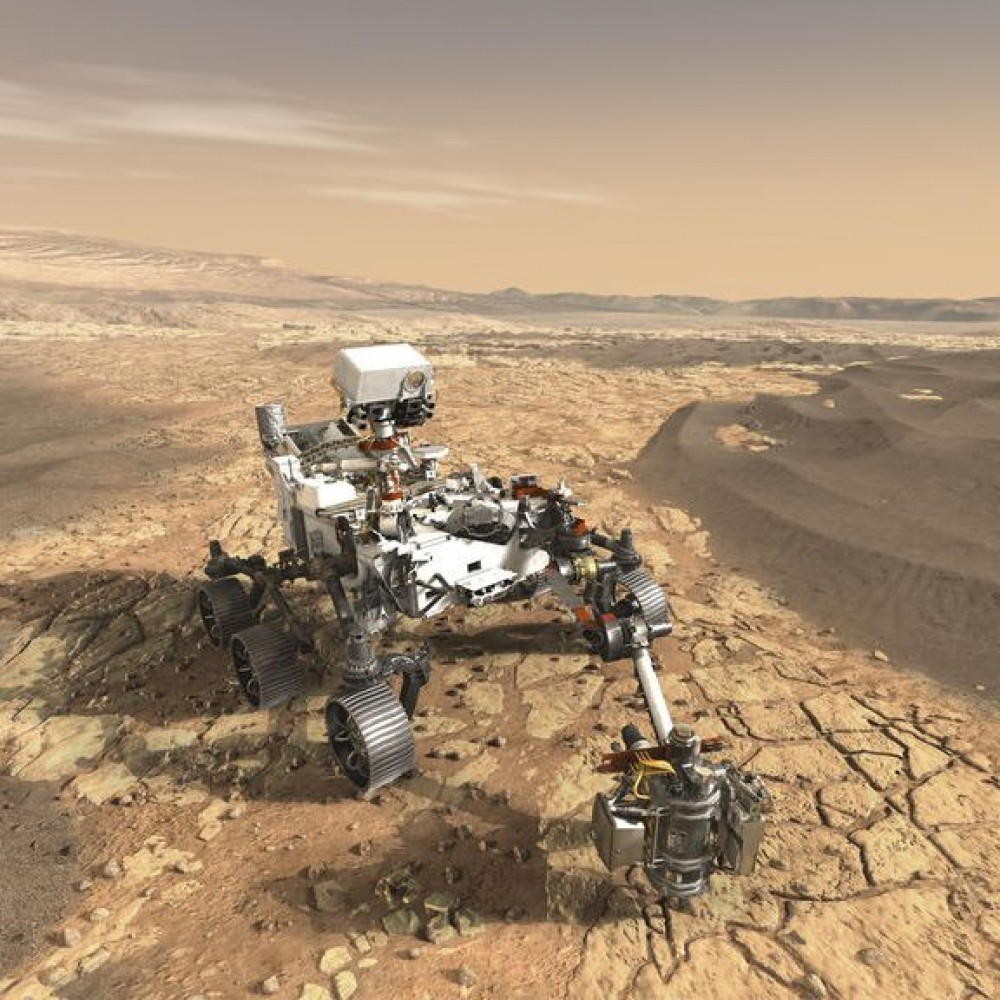 Первые снимки Красной планеты // Марсоход NASA успешно сел на Марсе