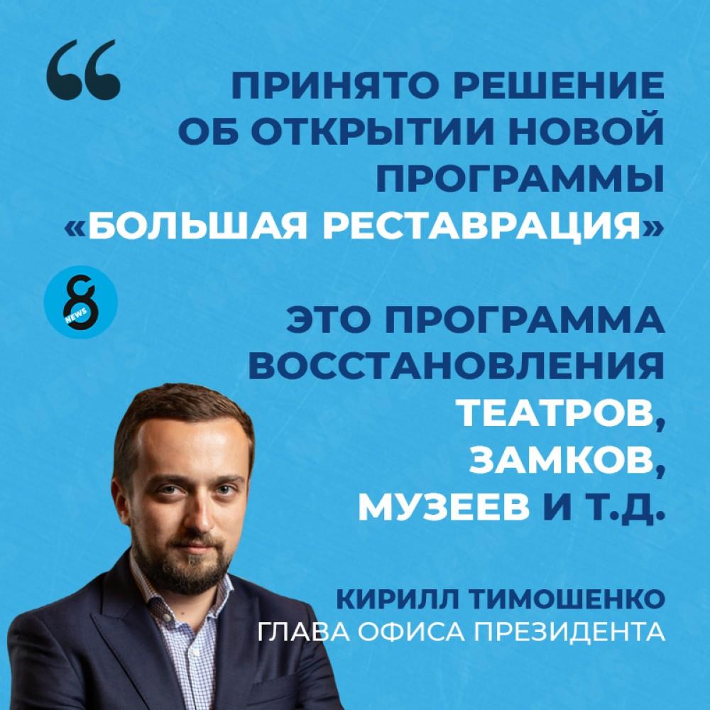 Владимир Зеленский запускает «Большую реставрацию» в рамках президентской программы «Большая стройка»