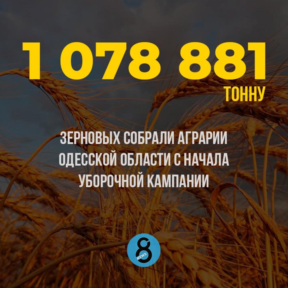 Аграрии Одесской области собрали первый миллион тонн урожая ранних озимых культур