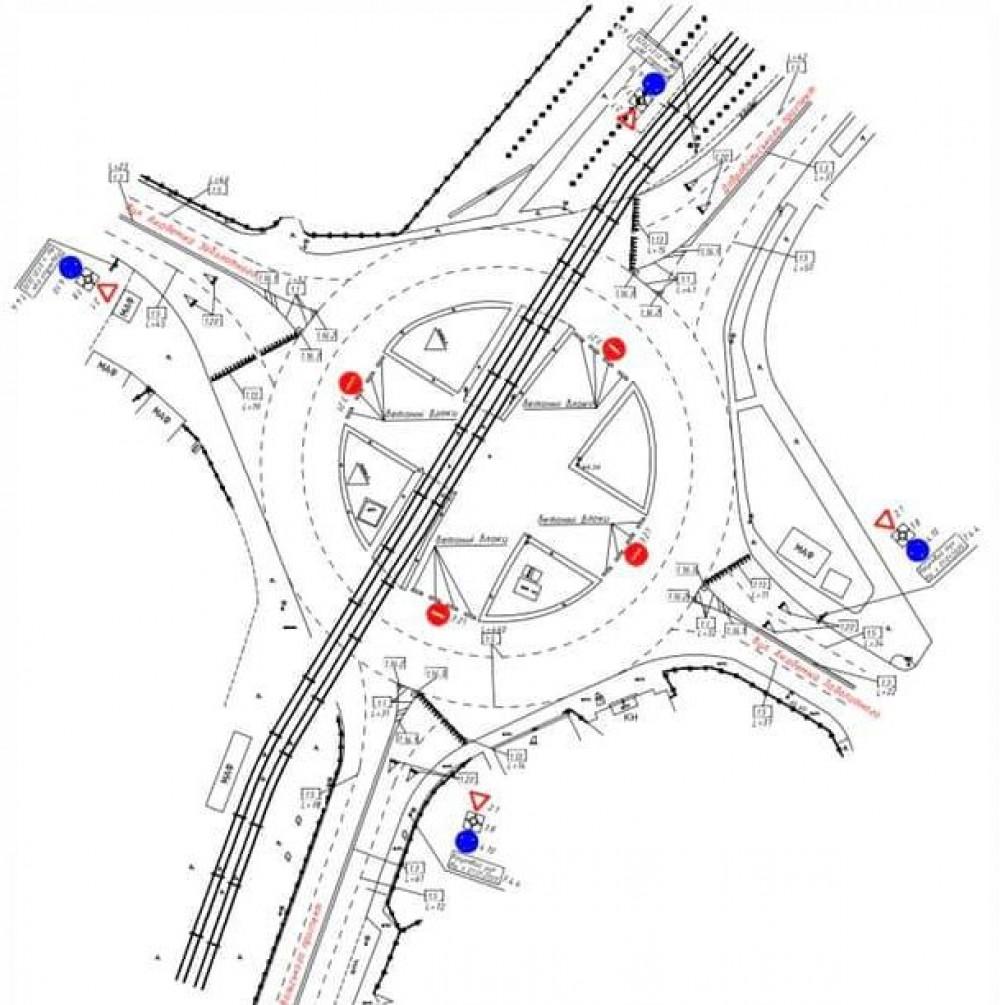 Движение на перекрестке улиц Заболотного и Добровольского станет круговым