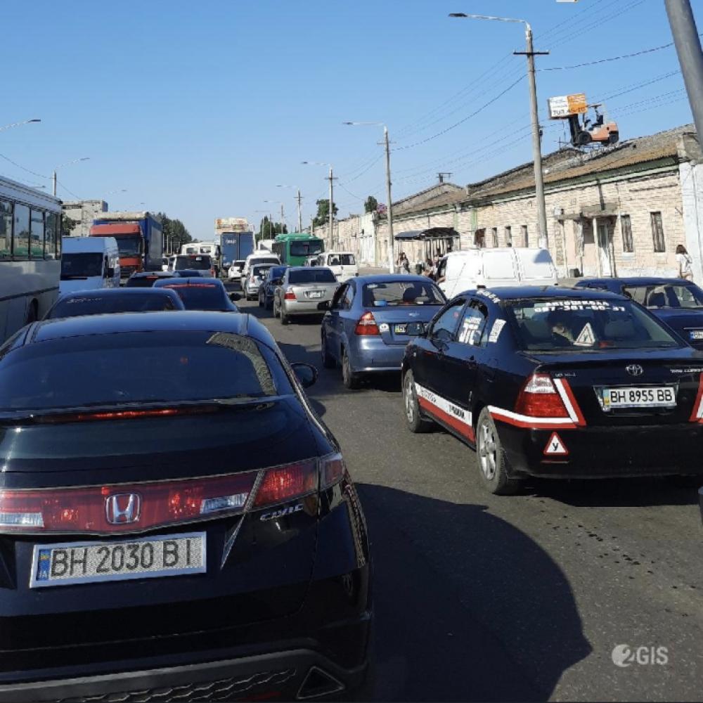 Транспортный ад // Выезд с поселка Котовского затруднен
