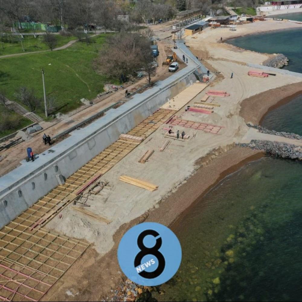 Обещают новый пляж к началу курортного сезона // Как проходит благоустройство на «Дельфине»