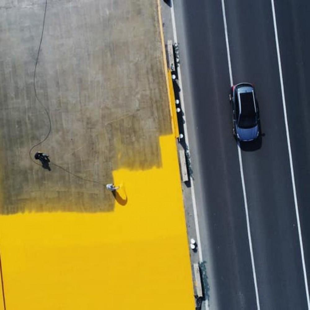 Скоро поедем // Хаджибейский мост покрывают гидроизоляцией