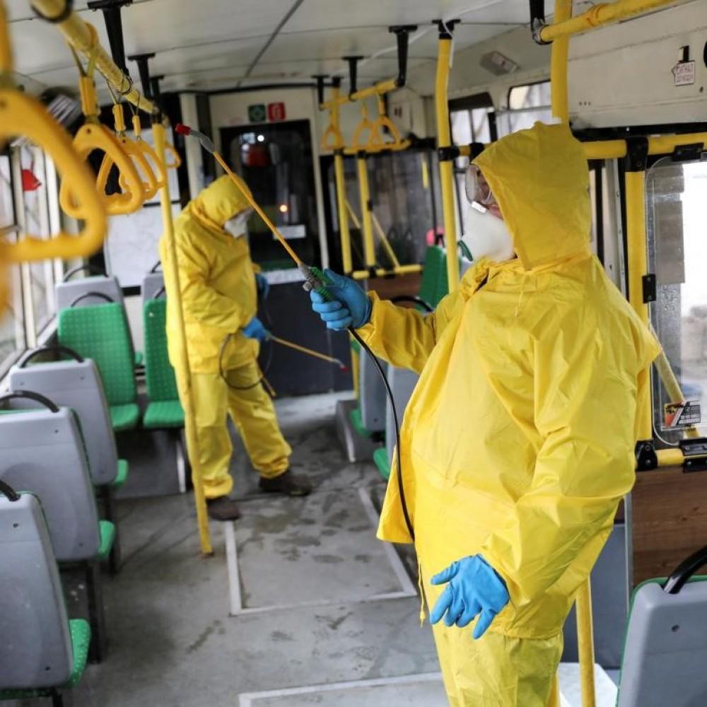 Заболеваемость растет // В Одессе начали дезинфицировать общественный транспорт