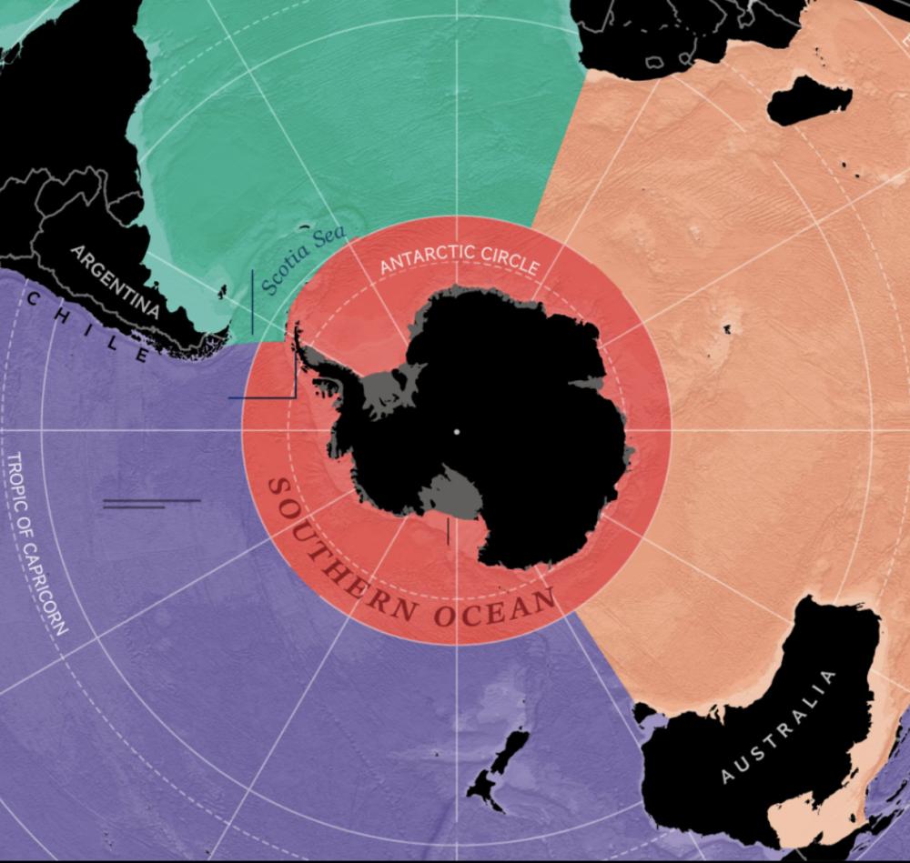 Ученые официально признали Южный океан // Им стали воды в пределах Антарктики