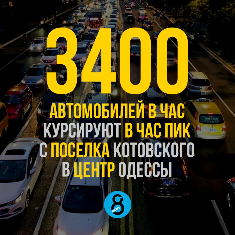 3400 автомобилей в час курсируют в час пик с поселка Котовского в центр Одессы