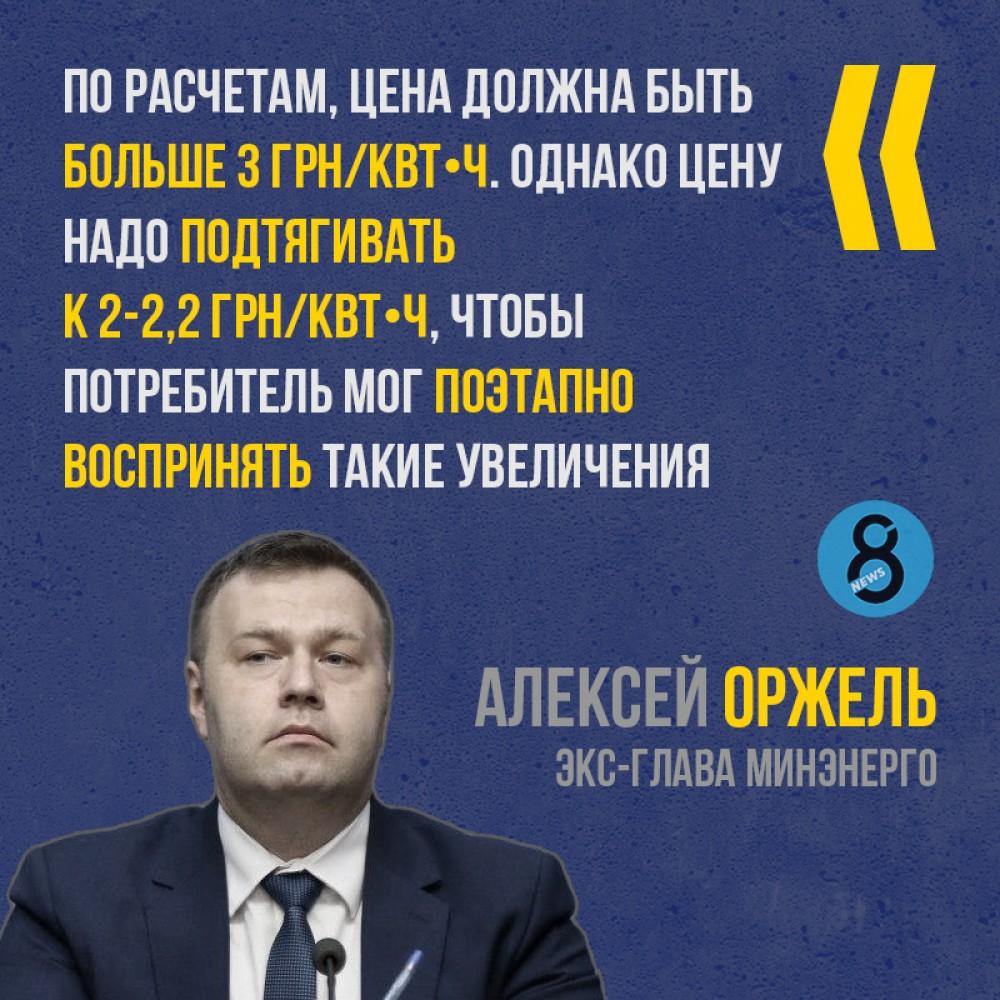 Цена за свет в украине составит более 3 грн/кВт⋅ч