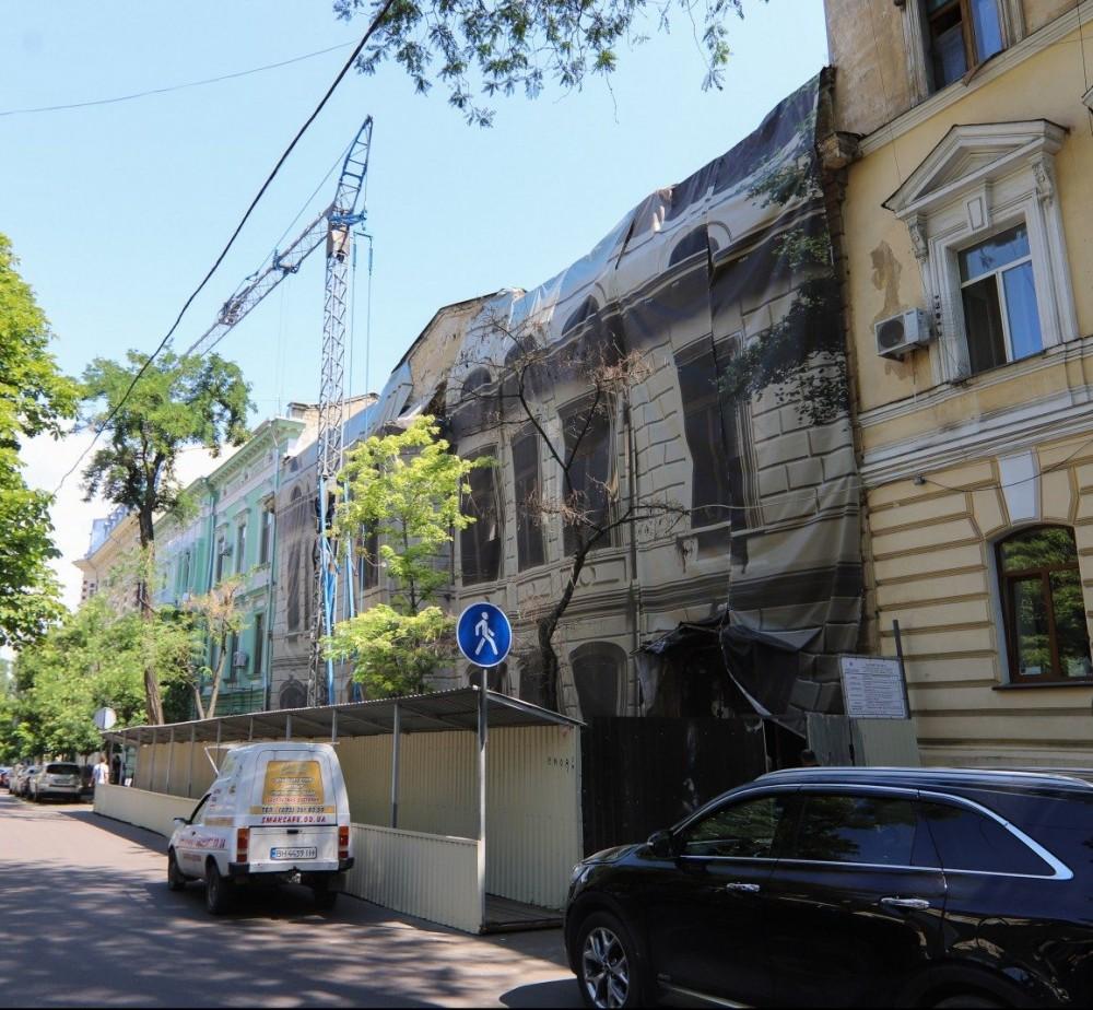 Восстановление Дома Гоголя // В здании ведутся противоаварийные работы