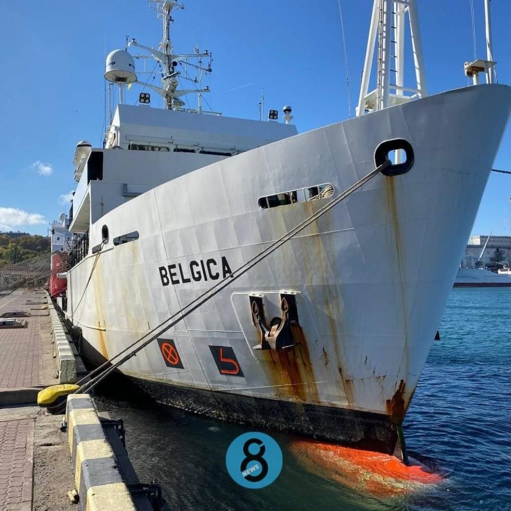 Подарок от Бельгии // Научно-исследовательское судно Belgica пришвартовалось в Одессе