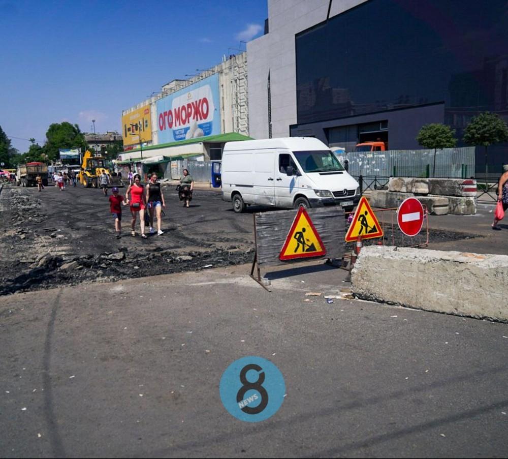 Ремонт Екатерининской возле Привоза // Проезд обещают открыть на следующей неделе