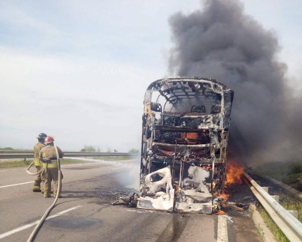 На трассе Одесса — Киев на ходу загорелся автобус с людьми