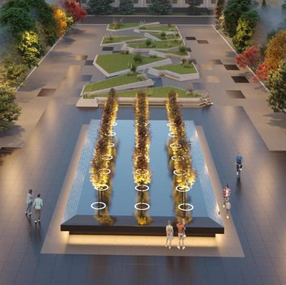 Одесский скульптор представил концепцию двух скверов возле облгосадминистрации