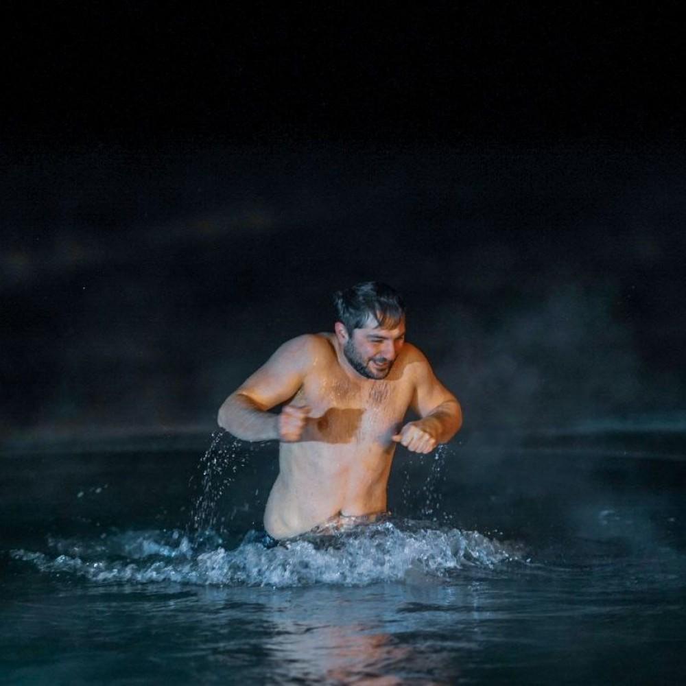 Как прошли крещенские купания на Ланжероне // Фоторепортаж