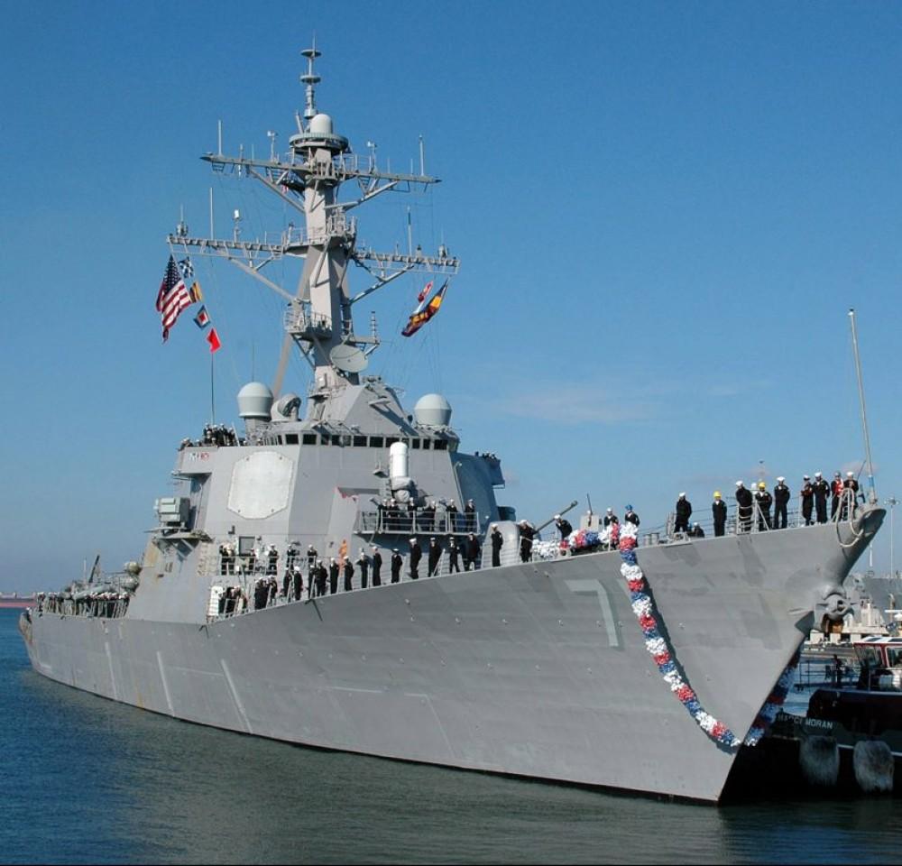 Американский ракетный эсминец «Росс» вошел в Одесский порт // Sea Breeze 2021