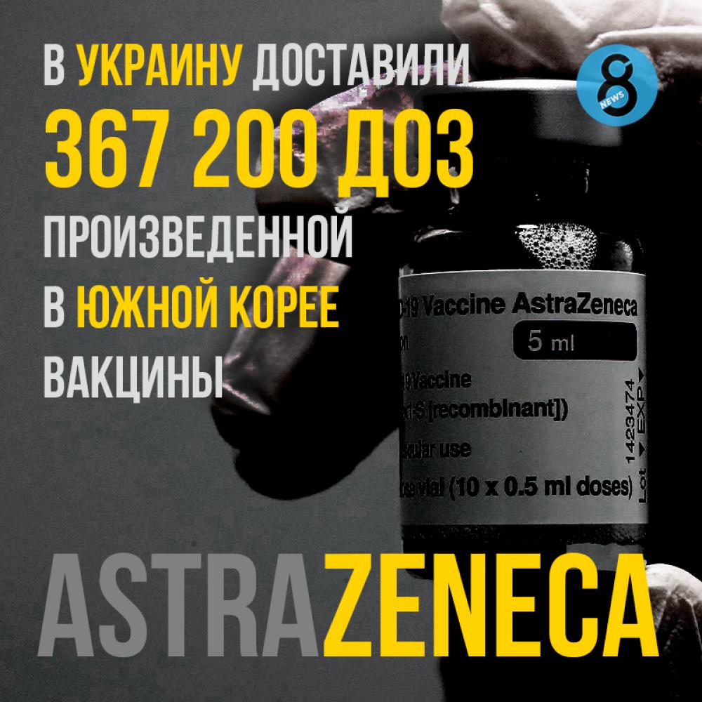 В Украину доставили 367 200 доз вакцины AstraZeneca