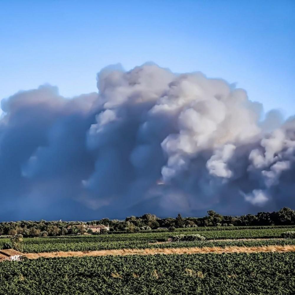 Масштабные лесные пожары охватили департамент Вар на юго-востоке Франции
