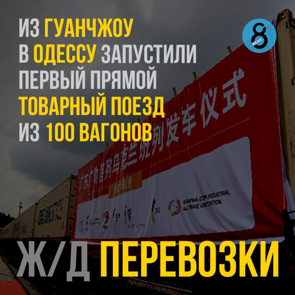 Новый товарняк Гуанчжоу — Одесса преодолеет 8408 км за 20 дней