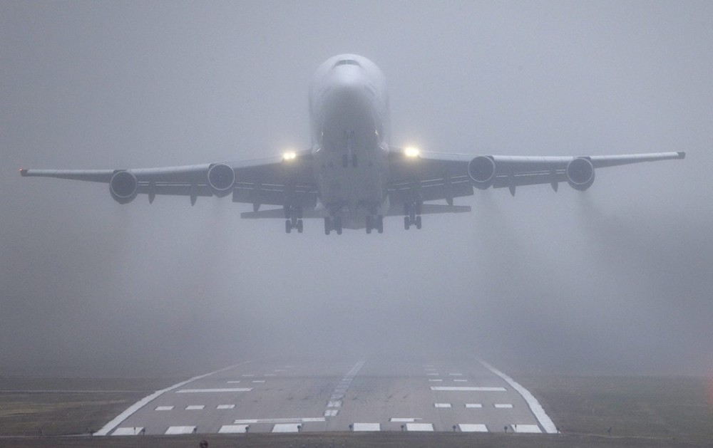 Аэропорт снова парализован // Два рейса не смогли сесть в Одессе из-за густого тумана 💨