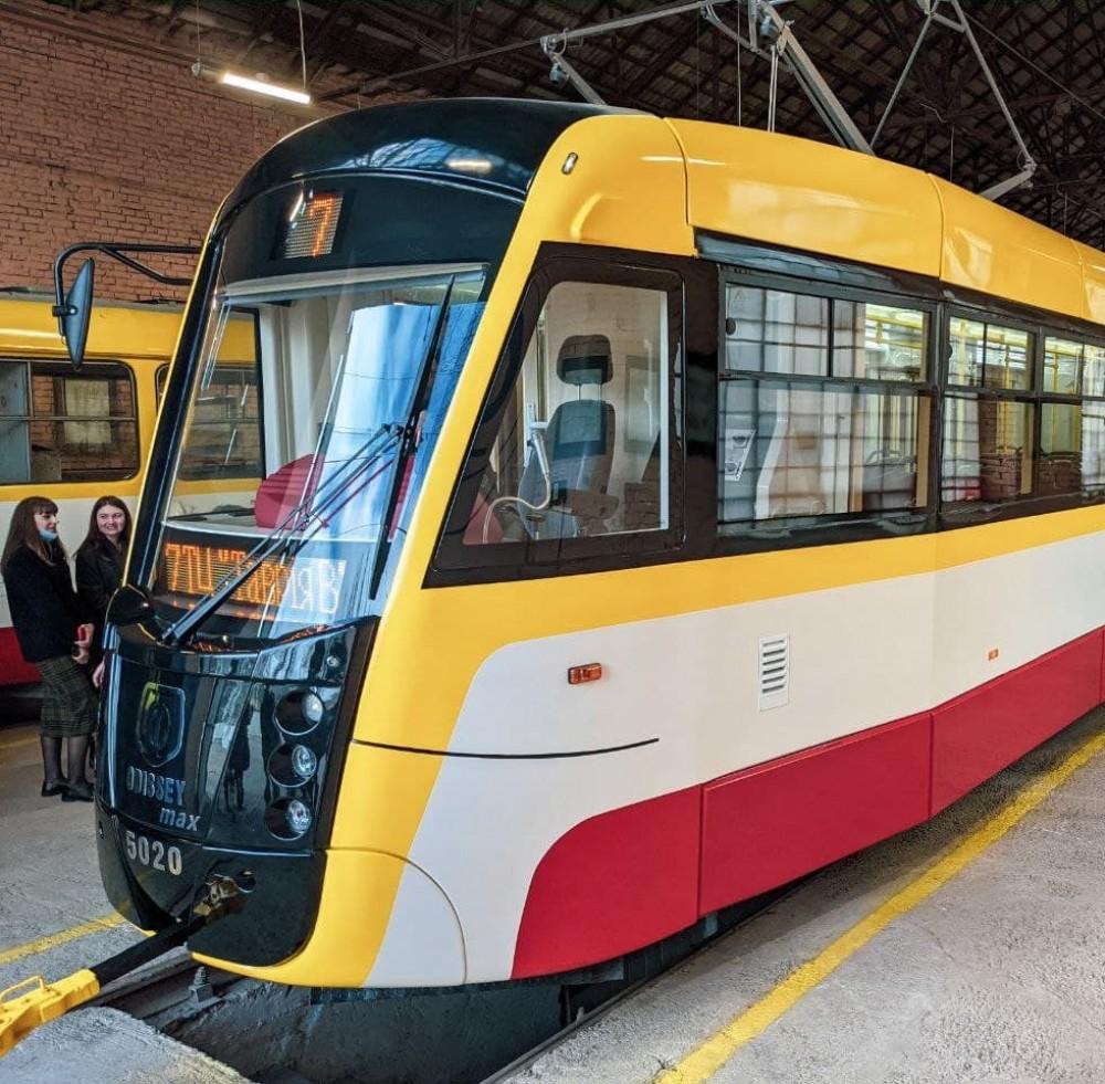 Третий трамвай Odissey Max презентовали в Одессе