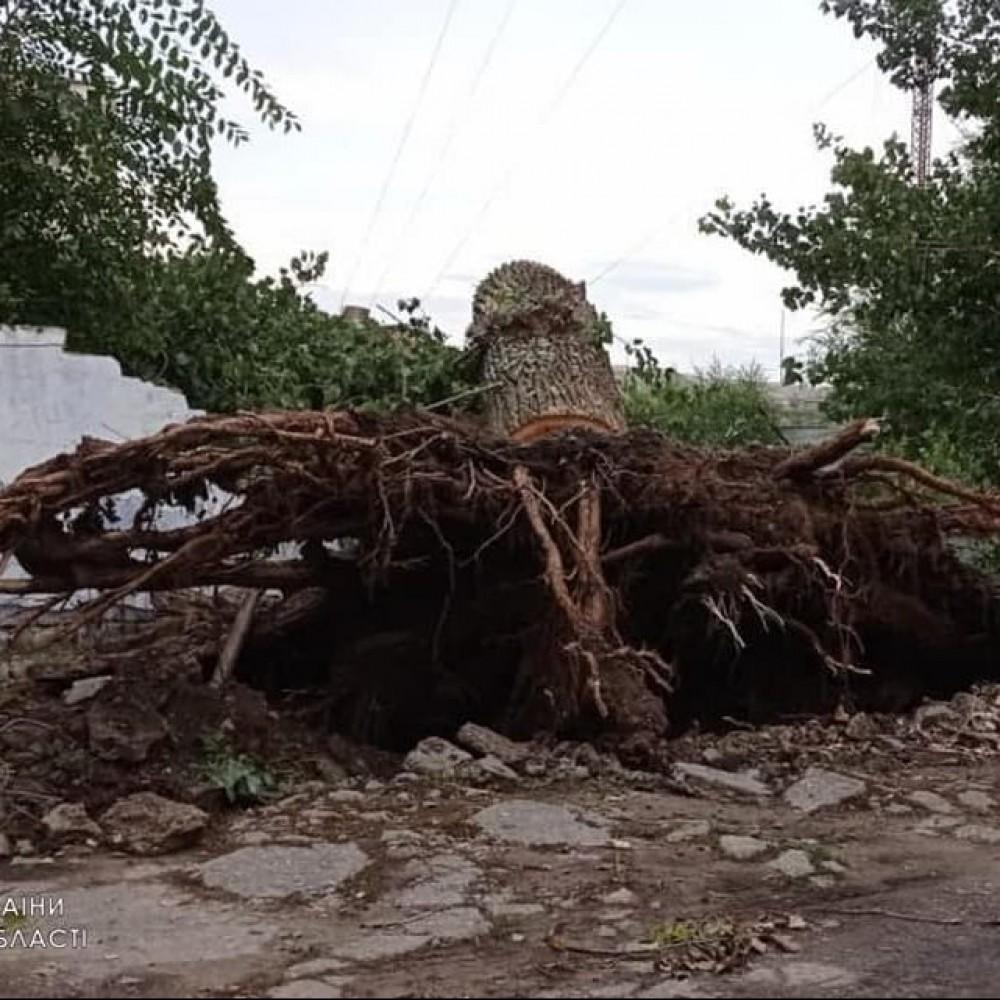 Ураган в Тарутино // Спасатели вторые сутки ликвидируют последствия непогоды