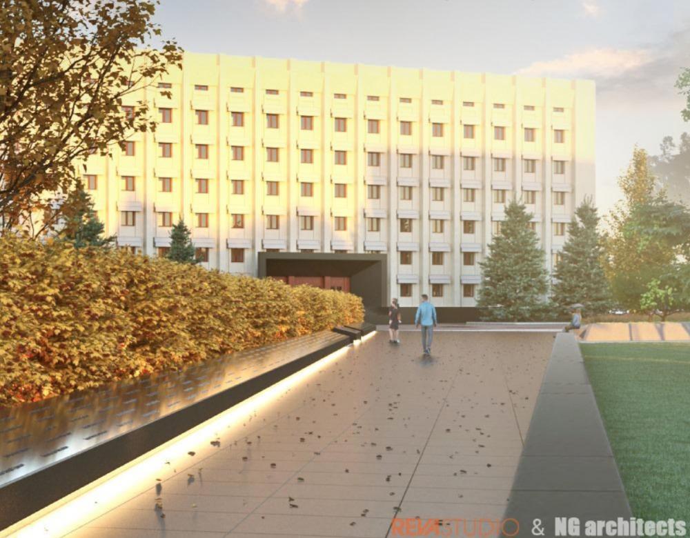 Реконструкция сквера возле Одесской обладминистрации // Город заплатит 56 миллионов