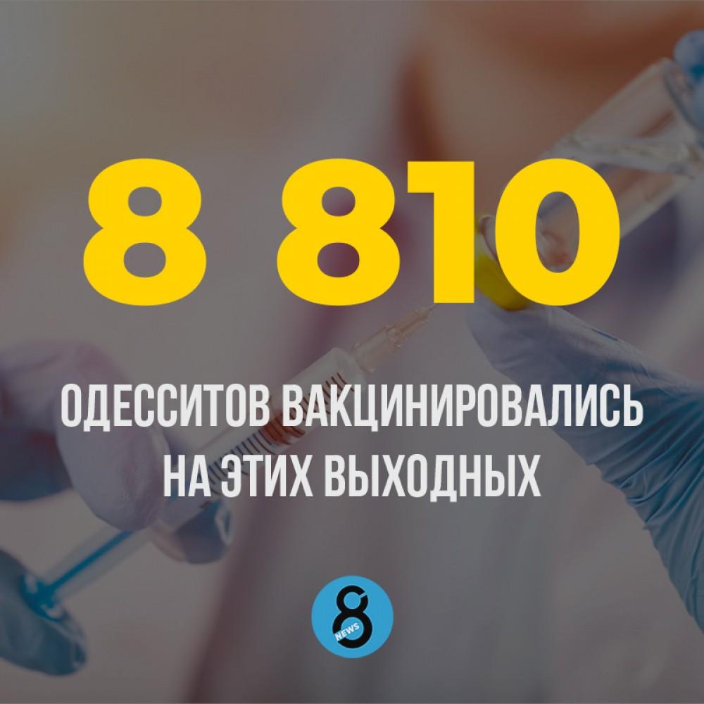 В вакцинальных центрах Одессы привились рекордное количество человек