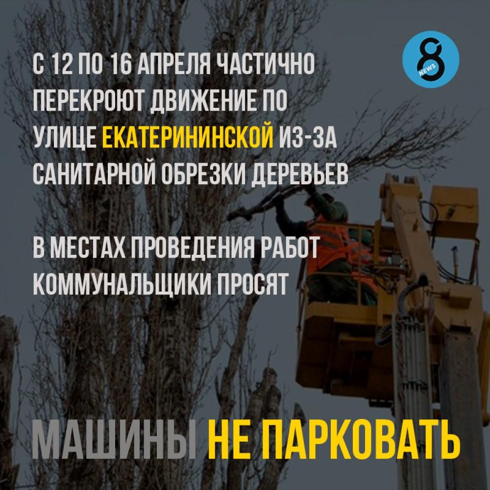 Санитарная обрезка на Екатерининской