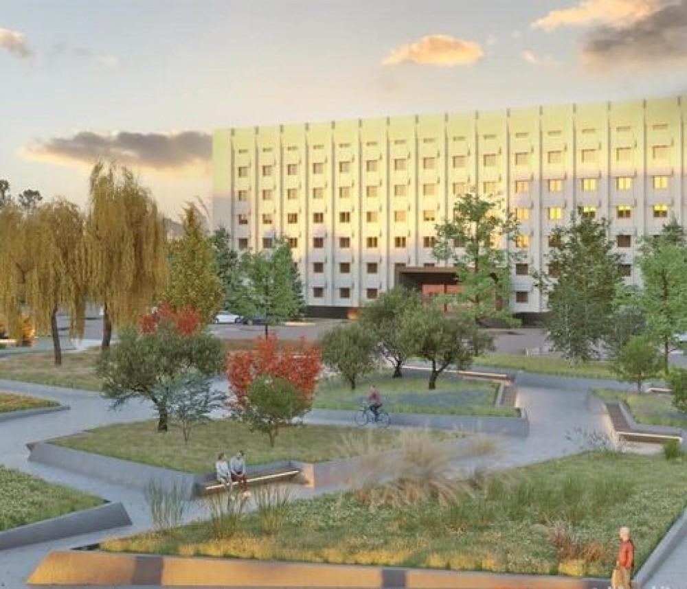 В мэрии объявили второй тендер по капитальному ремонту сквера возле Одесской ОГА