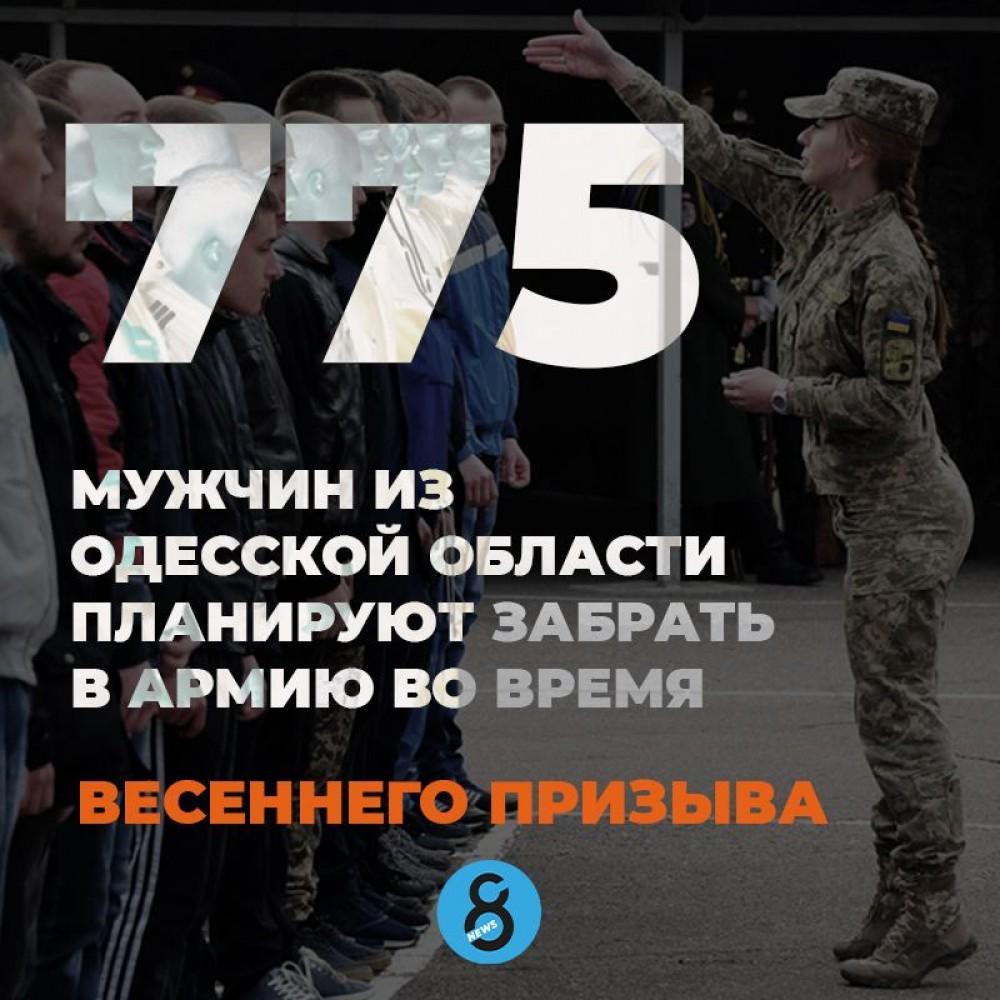 Стало известно, сколько призывников из Одесской области заберут в армию