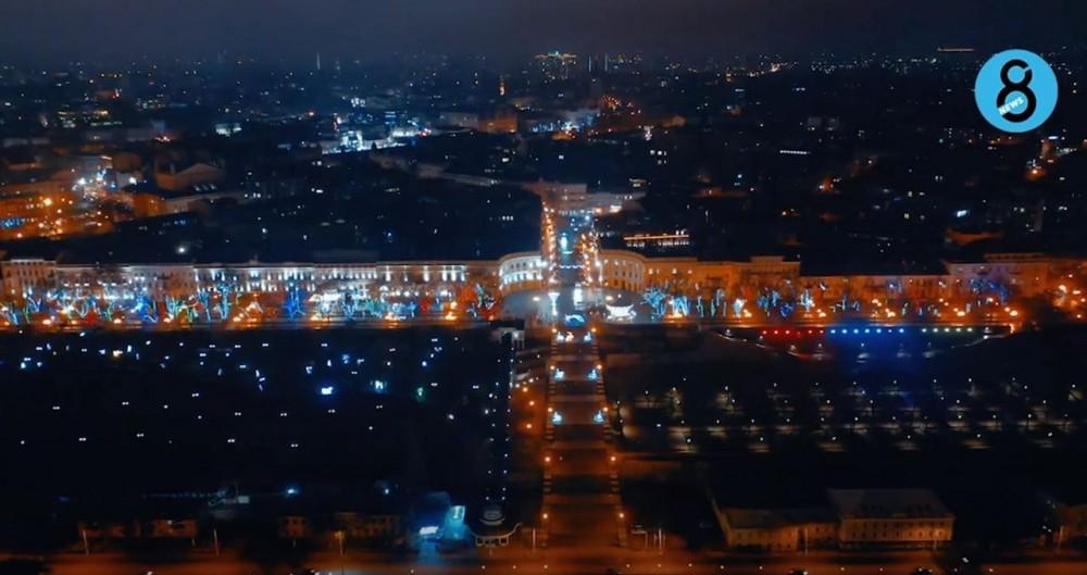Видео с коптера // Как выглядит предновогодняя ночная Одесса