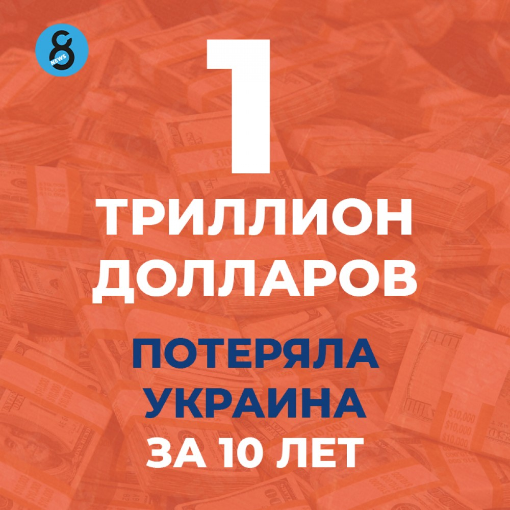 Триллион долларов потеряла Украина за последние 10 лет