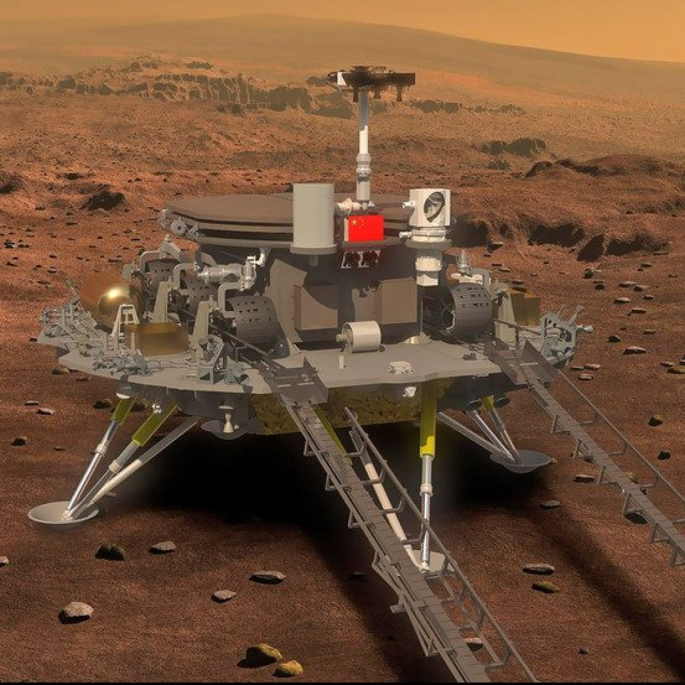 Китайский космический зонд «Тяньвэнь-1» приземлился на Марс