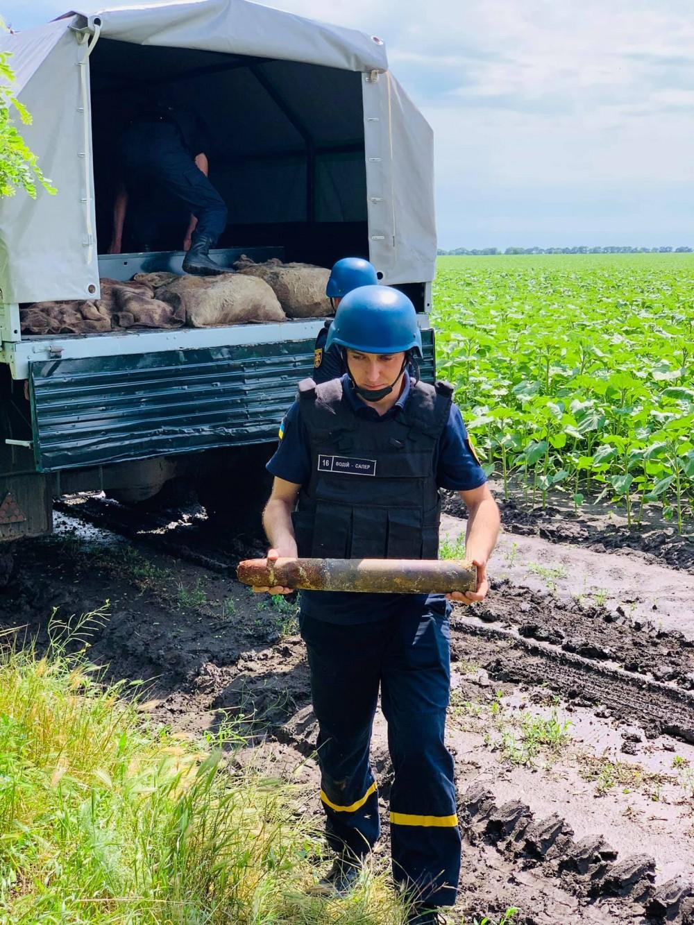 В Одесской области обезвредили снаряды времен Второй мировой войны