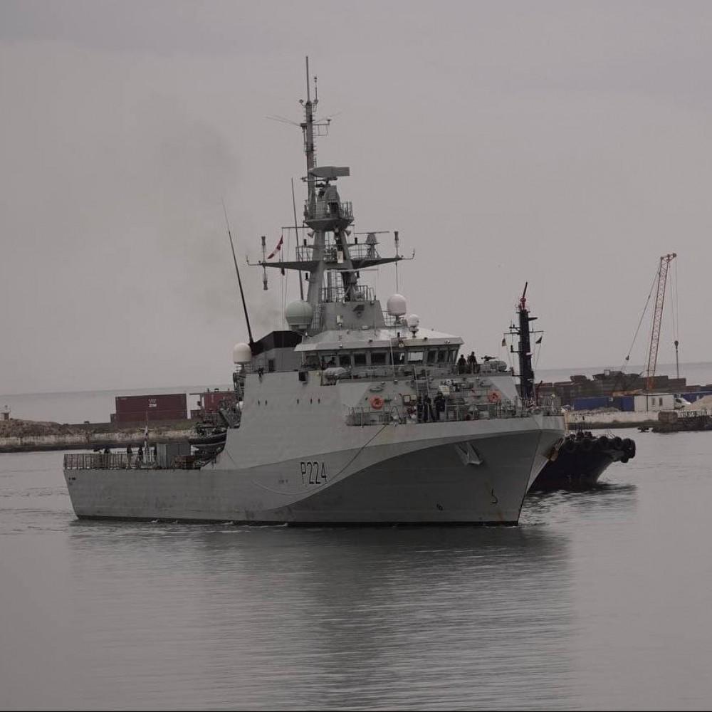 В Одесский порт зашел британский патрульный корабль Королевского флота