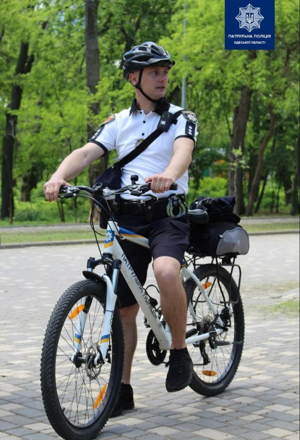В Одессе начал работать велопатруль