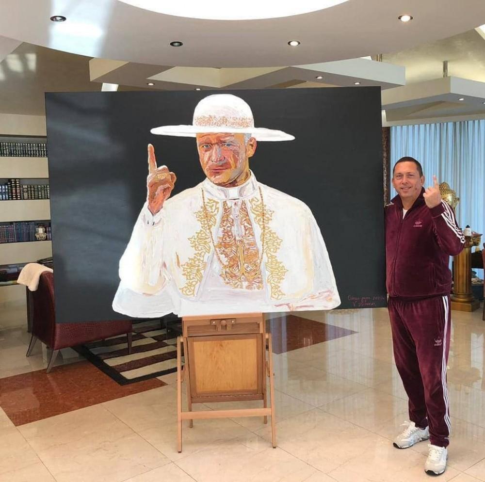 Труханов стал Папой // В образе понтифика мэр появился на картине кисти Вячеслава Крука