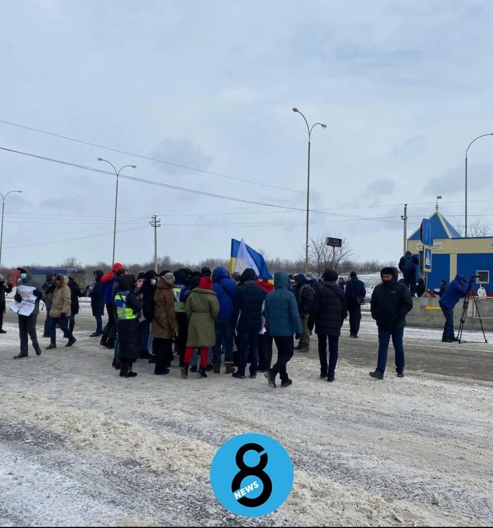 Одесские моряки снова перекрывали киевскую трассу