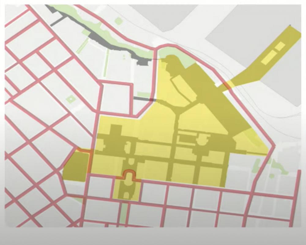 52 гектара пешеходной зоны // Мэрия презентовала проект нового пешеходного центра