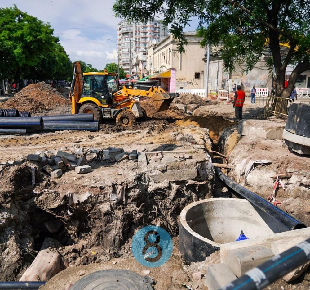 Реконструкция Преображенской // Работы планируют завершить в сентябре