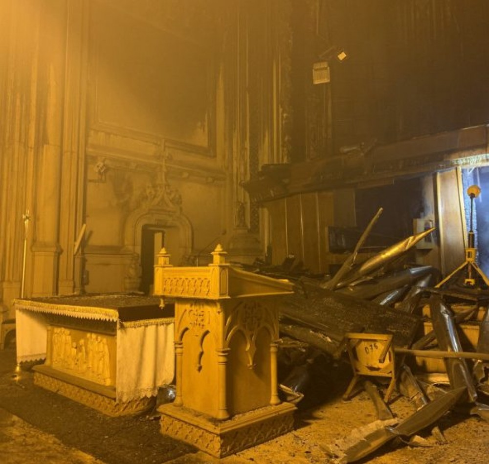 «Это же не сарай восстанавливать» // Противоаварийные работы в горевшем костеле Святого Николая начнутся в середине осени